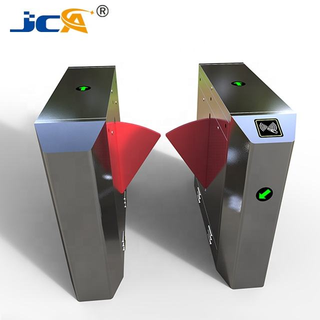 Manufacturer bright led direction flap turnstile in access control system hygiene station with turnstile