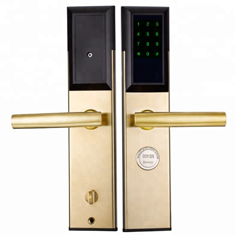 2018 Hot Sale Security Stainless Apartment Hotel Bluetooth Wifi Smart Door Lock App Control