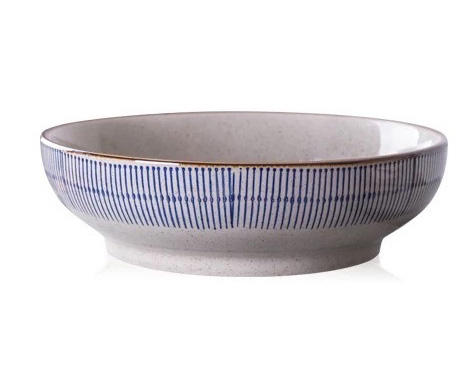 Custom Logo 9 inch Ceramics Bowl Soup Salad Pasta Bowls Large Size OEM Service Porcelain Noodle Bowl For Hoem Kitchen