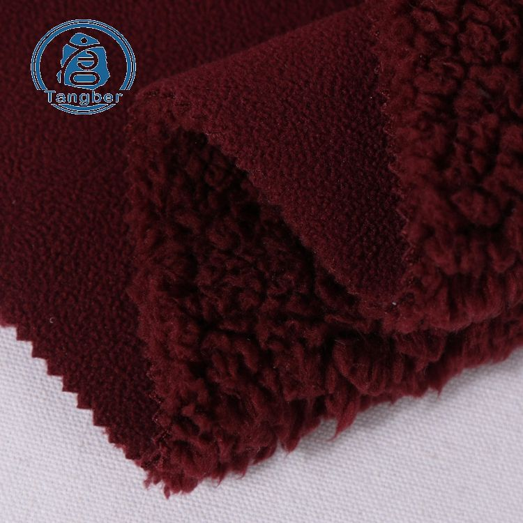 100% Polyester Micro Polar Fleece Knitted Bonded Sherpa Fleece Fabric