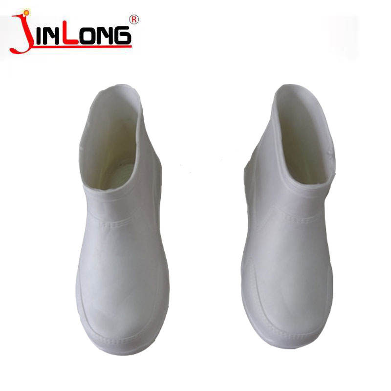 White short food boots acid and alkali waterproof and oil resistant non-slip kitchen special unisex rain boots water shoes whole