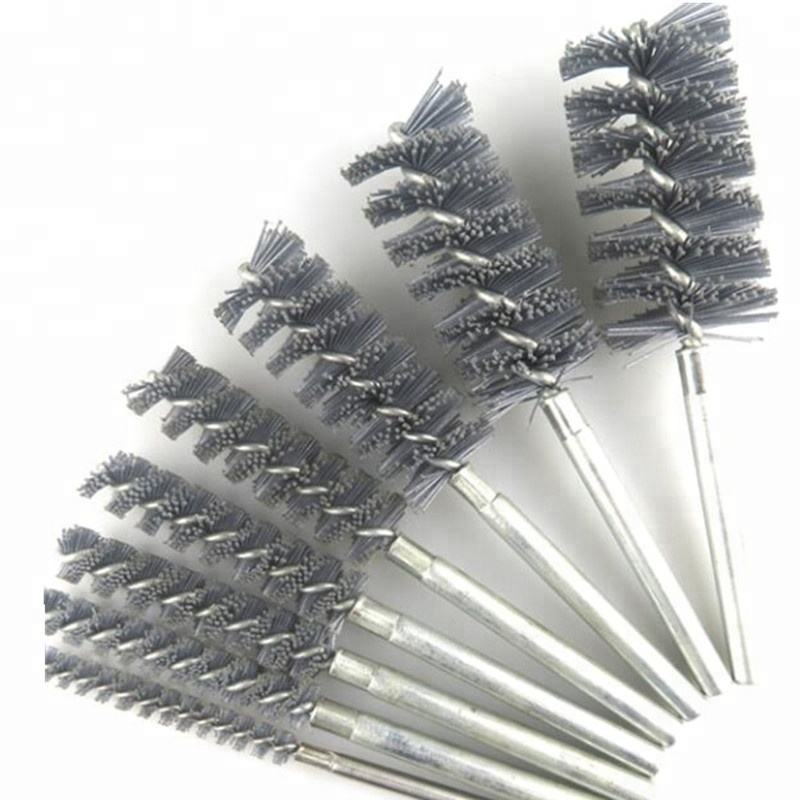 Abrasive Wire Pipe Cleaning Brush for Window Frame, Small Bottle, Test Tubes - as described, 16mm