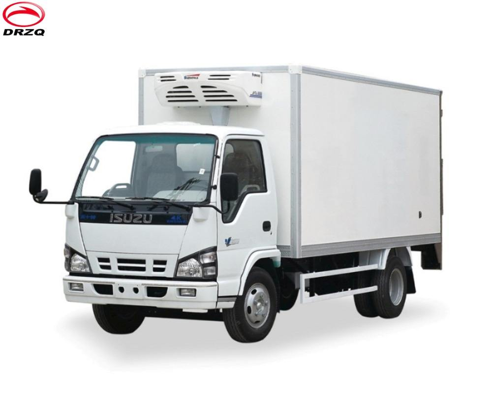 Japan famous brand 98 horse power diesel engine mobile Refrigerated truck body for fresh food