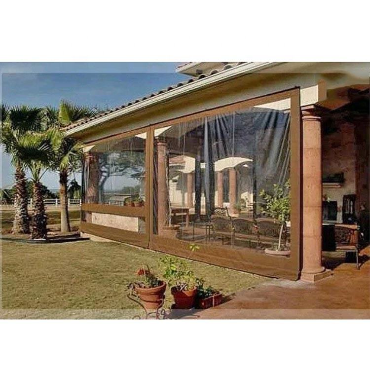 Custom waterproof sun shade fabric 0.5mm Vinyl Clear Awning Canopy Patio Enclosure, sun shade cloth for sale