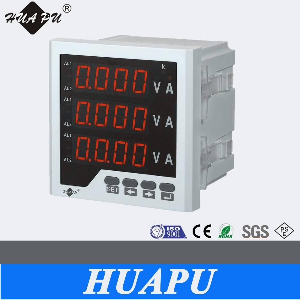 LED display Digital trifásico medidor de voltaje de corriente y voltaje del metro del Panel de CA Amp 96x96
