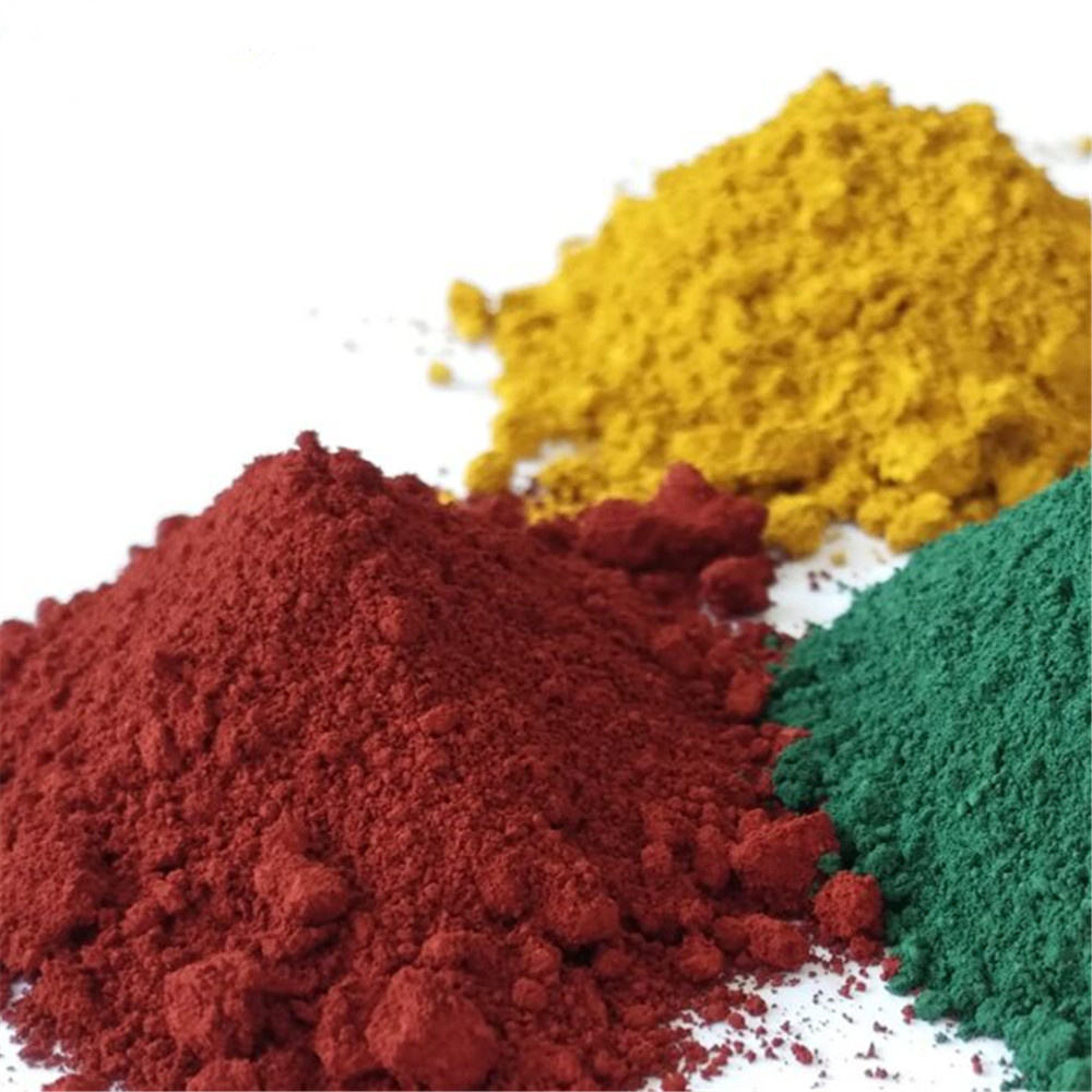 iron oxide red/yellow/green/orange/blue/brown/black pigment powder