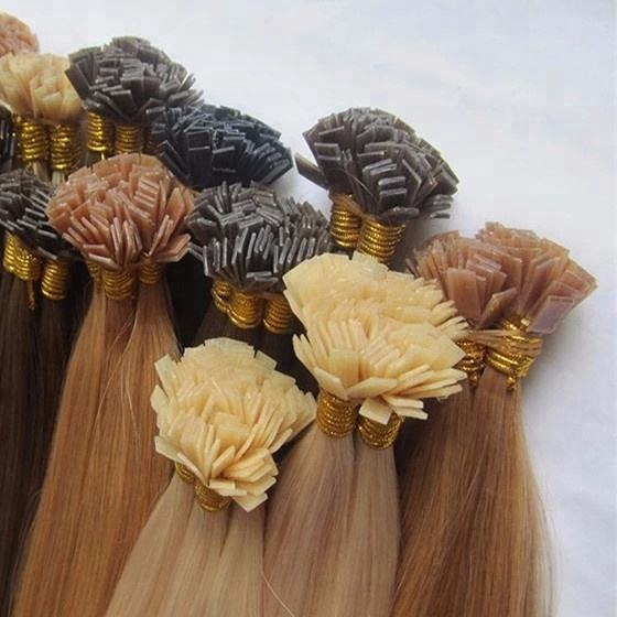 100% Remy Full Russian Cuticle Human Hair Extensions I V U FLAT Tip Pre Bond flat Tip in Hair Extensions