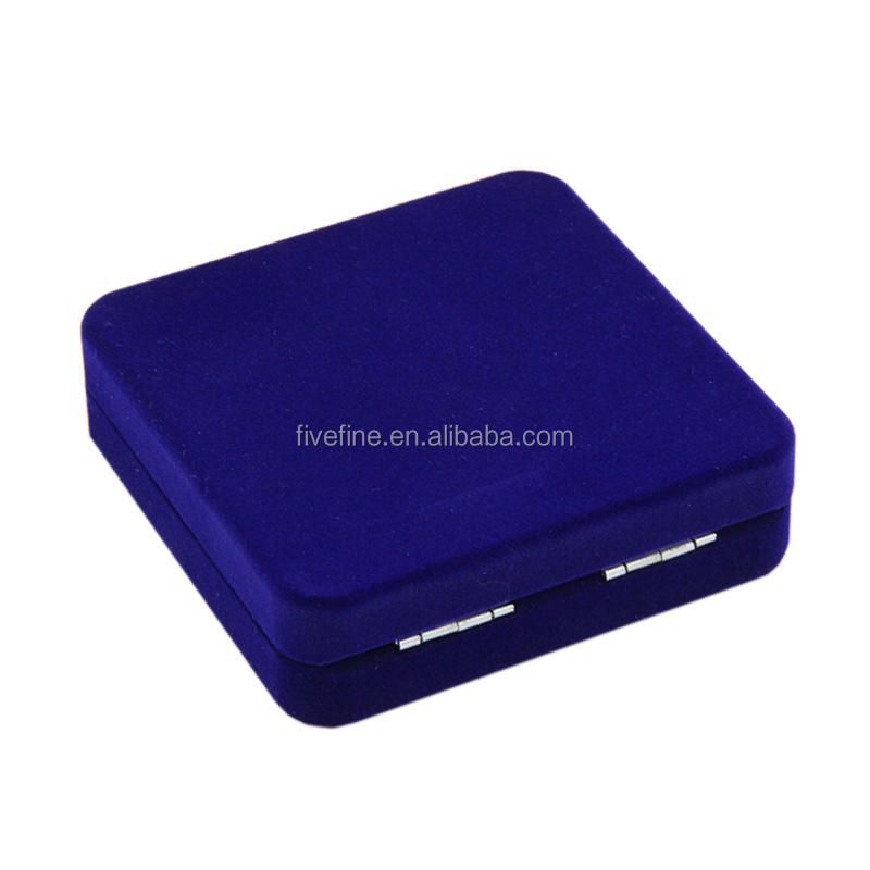 High quality custom red blue velvet medal boxes