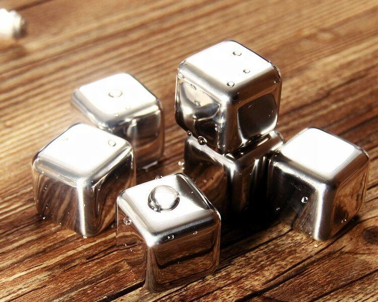 Food Grade 304 Stainless Steel Whiskey Ice Cube For Drink