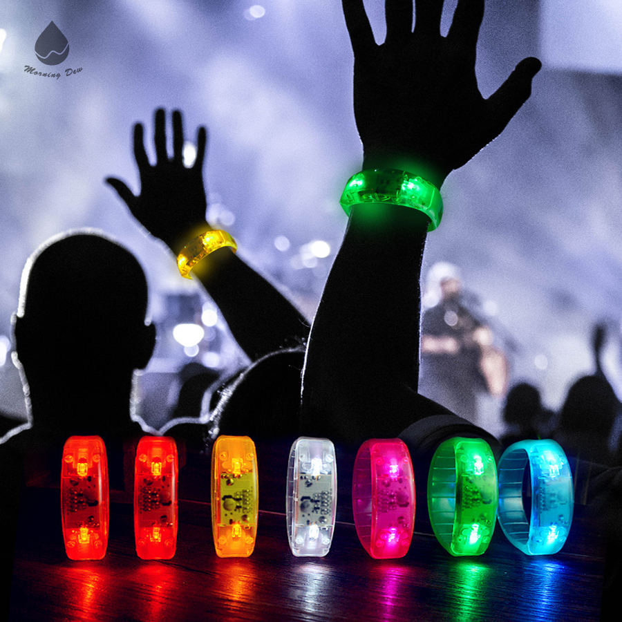 Wholesale Customize Sound Activation Light LED wristband