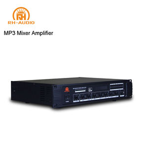RH-AUDIO PA Audio Mixer Amplifier with USB FM Radio Signal for BGM
