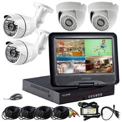 "Big Promotion 4chs CCTV Camera System Kit with 10""LCD"