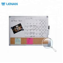 Quartet Magnetic Dry Erase Cork And White Combination Calendar Board with Curved Frame