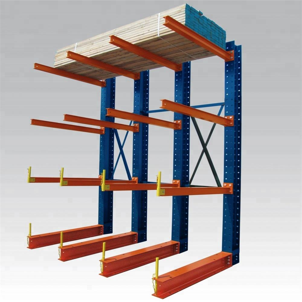 Max 1.5T/arm warehouse shelving cantilever racks, metal joint for diy pipe rack system, adjustable cantilever rack