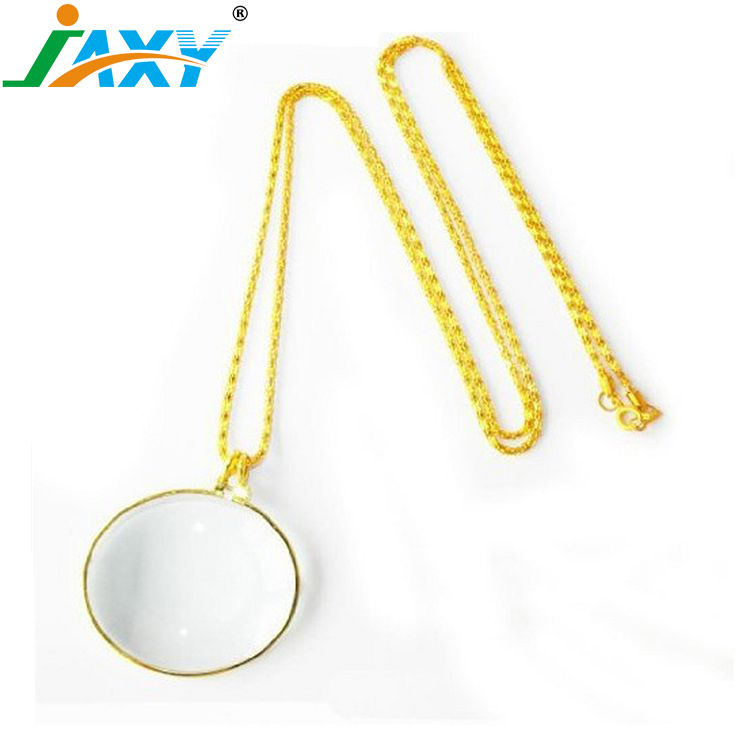 6X Round Pendant Decorative Necklace Magnifying Glass