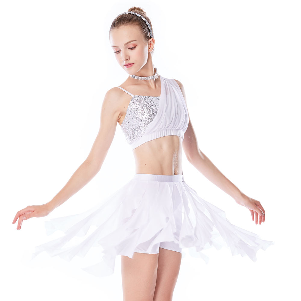 MiDee Elegant Belly Ballet Dance Costume Set Stage Performance Costume For Girls