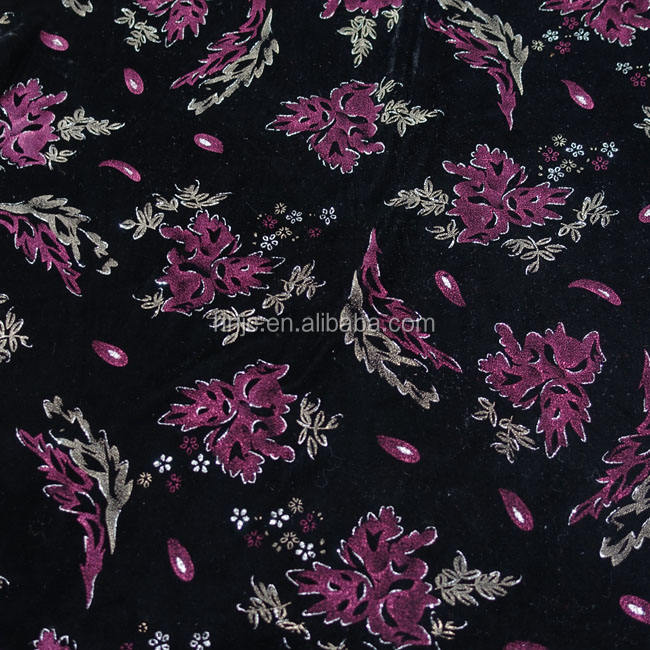 New pattern In the Middle East Shining and glaring Lacquer and Clitter velvet lady dress fabric