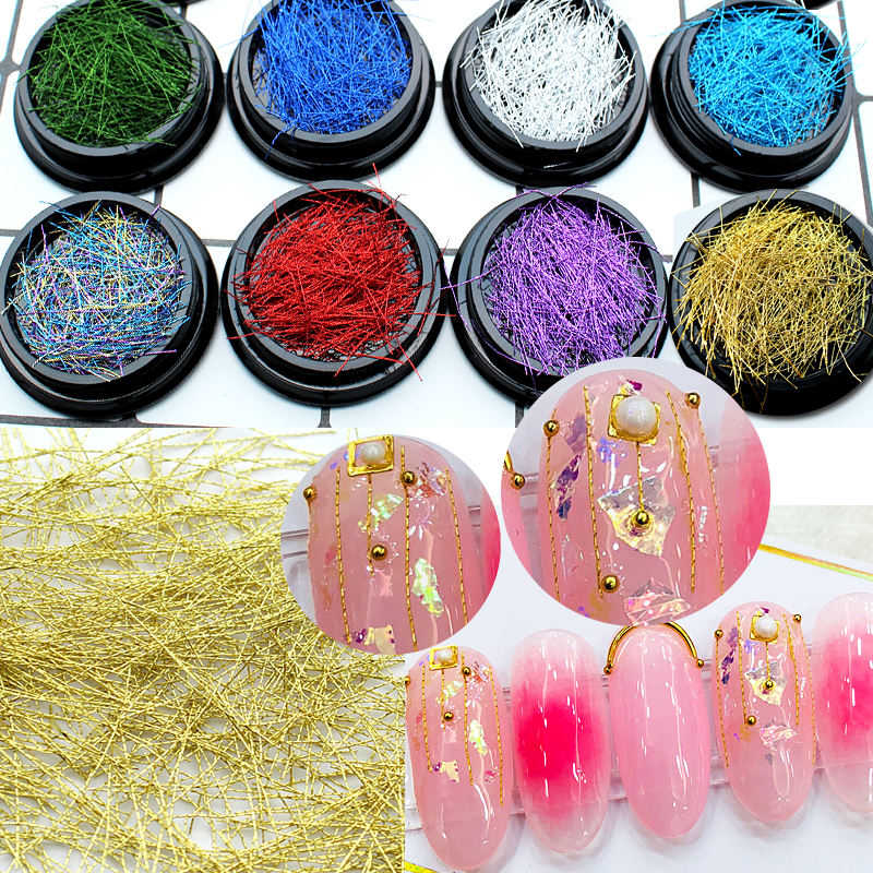 Nails Decoration Circle Bead Decoration 3D DIY Colorful Beads Nail