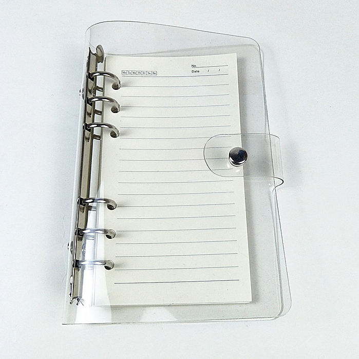 Custom Spiral PVC Inflatable Notebook Ring Soft PU Leather Journal Cover Cheaper Supplier PVC Leather Notebook