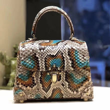 Luxury Exotic Skin Bags Genuine Python Leather Handbag for Women's Python Handbag