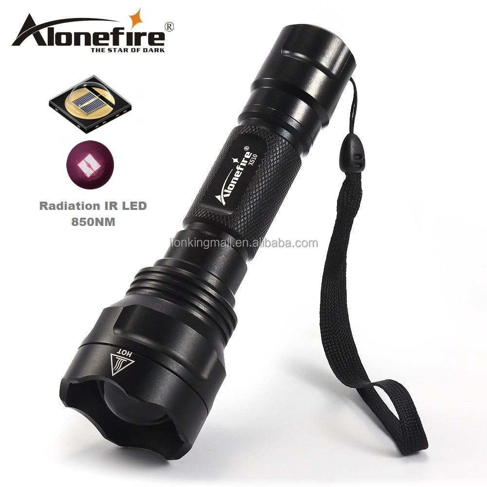 AloneFire X510 Infrared Red IR 850nm Zoomable IR Flashlight 850nm 1 Mode Night Vision Infrared Tactical hunting flashlight torch