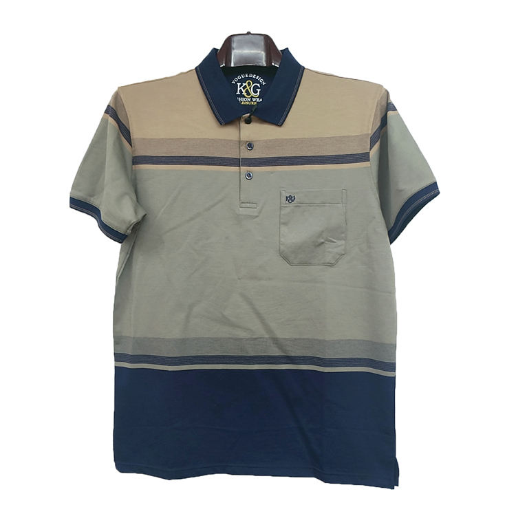 High quality men's striped bangladesh product polo shirt men's wholesale short sleeve polo shirt