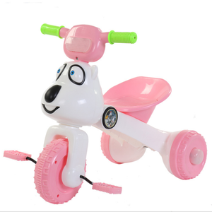 Wholesale plastic frame folding kids tricycle with music and light 2 to 6years children tricycle