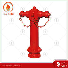 "4"" wet pillar fire hydrant, DN100 2way wet pillar hydrant"