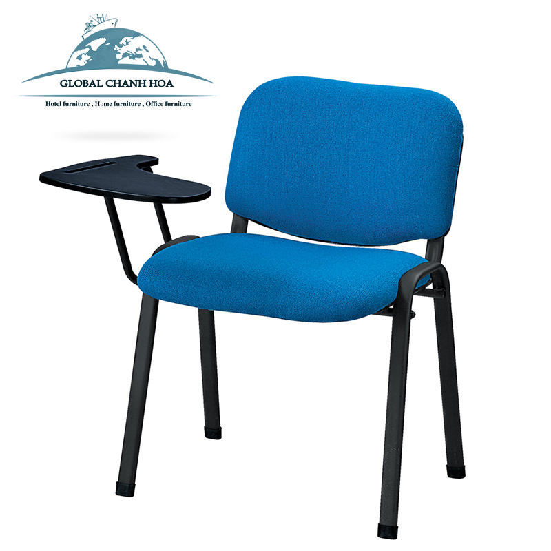 Fabric Padded School Chair Training Chair with Writing Tablet Stackable Conference Tablet Chair Wholesale