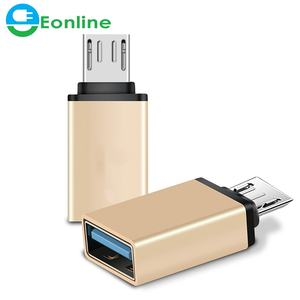 Eonline Aluminium Alloy Mini OTG Kabel USB3.1 OTG Adapter Micro USB Ke USB Converter untuk Tablet PC Android untuk Samsung s6 Tablet