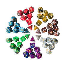 YUANHE Polyhedral  Double Colors Series dice Set - Dungeons and Dragons DND polyhedral dice set