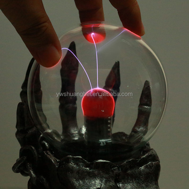 Treasure Touch Electronic Luminous Magic Ball Form Plasma Sphere Nebula Lightning Lamp 10cm