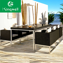 Garden patio sets space saving outdoor furniture rattan dining set