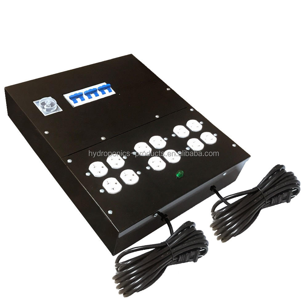 12 Light Master Lighting Controller 120/240V with Trigger Cord Lighting Relay Controller