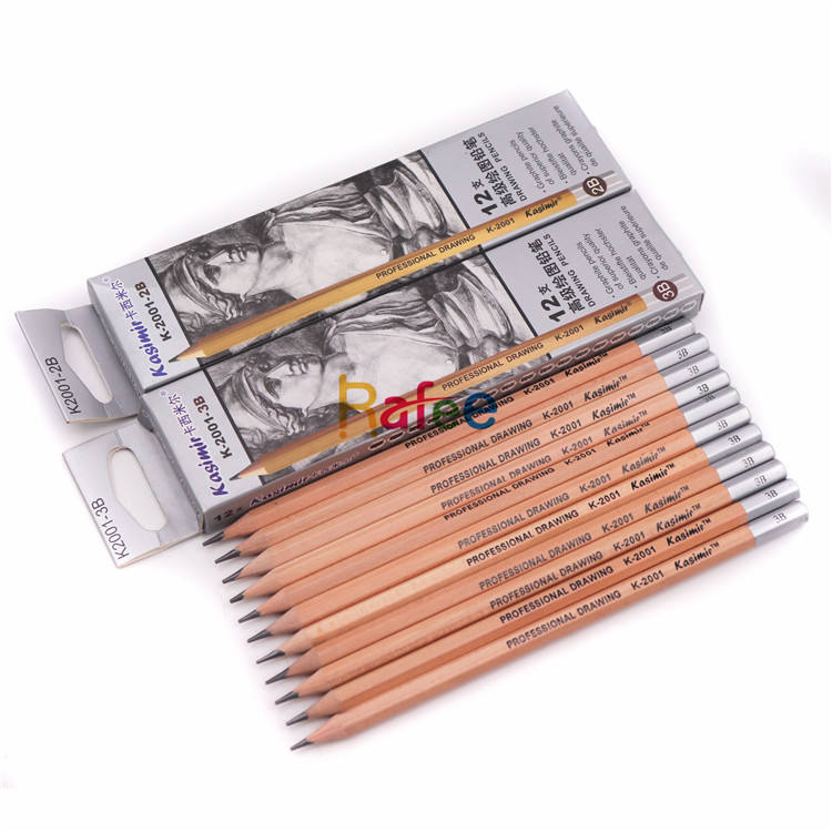 12Pcs/set B/2B/3B /4B/5B/6B/8B/10B/12B/H/2H/HB Professional Sketch Drawing Wooden Graphite Pencil Set