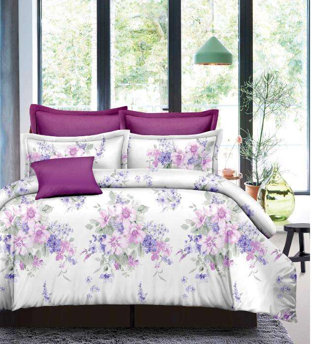 New design printed luxury bedding comforter sets double size bed sheets bedding sets