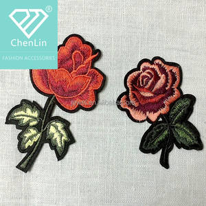 long flower patchpatch for vansembroidered patchiron on