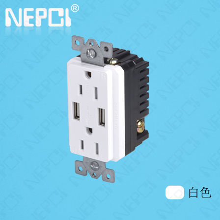 China Fabrikant 5 V/2.1A Hot sales USA <span class=keywords><strong>Socket</strong></span> USA type dubbele stopcontacten elektrische usb outlets