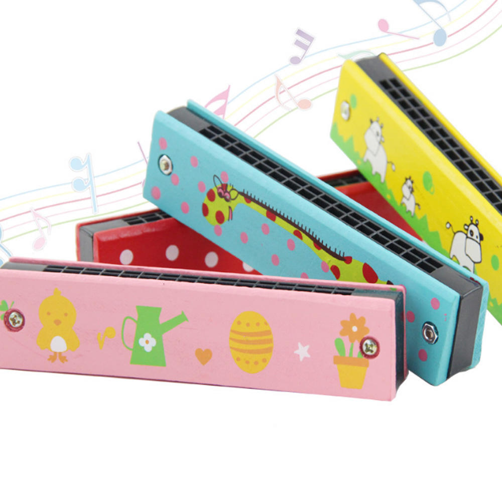 ZF131 New Creative Children musical harmonica toy Instrument Kindergarten Teaching Wooden Toy