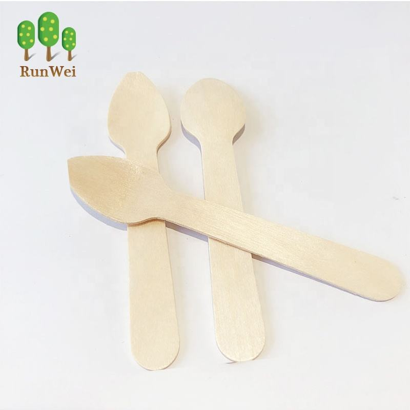 Eco-Friendly wooden heart teaspoon ice cream scoop /ice cream spoon