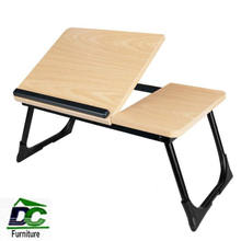 Adjustable height wooden metal folding computer desk laptop table  Foldable Breakfast Serving Bed Tray