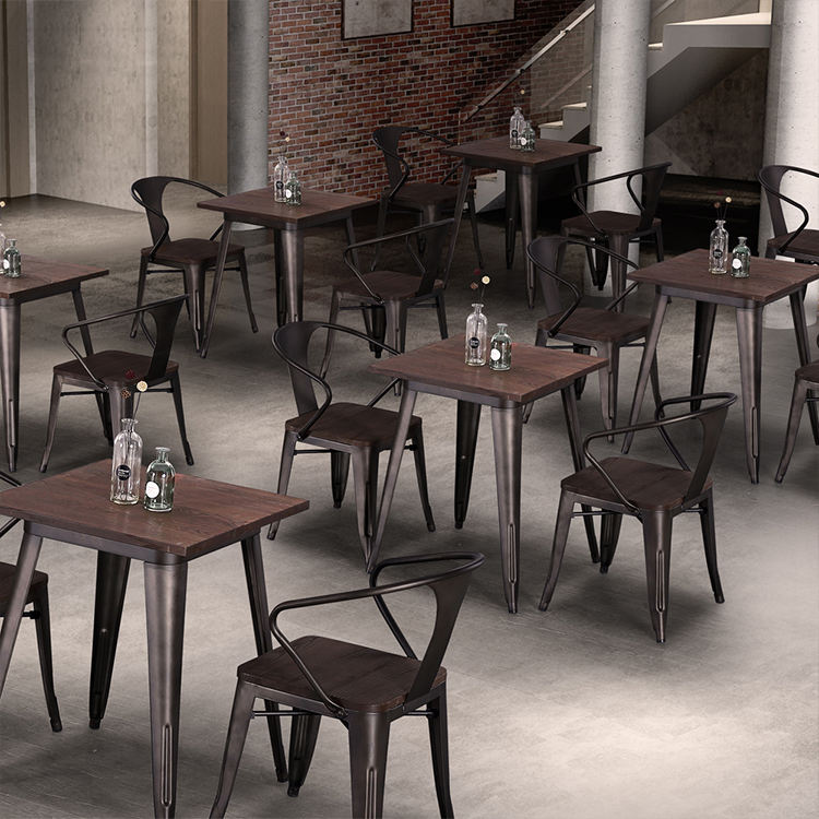 (SP-CT860) Commercial Low Back Bistro Cafe Style Simple Design Metal Dining Chair / Dining Chair Metal