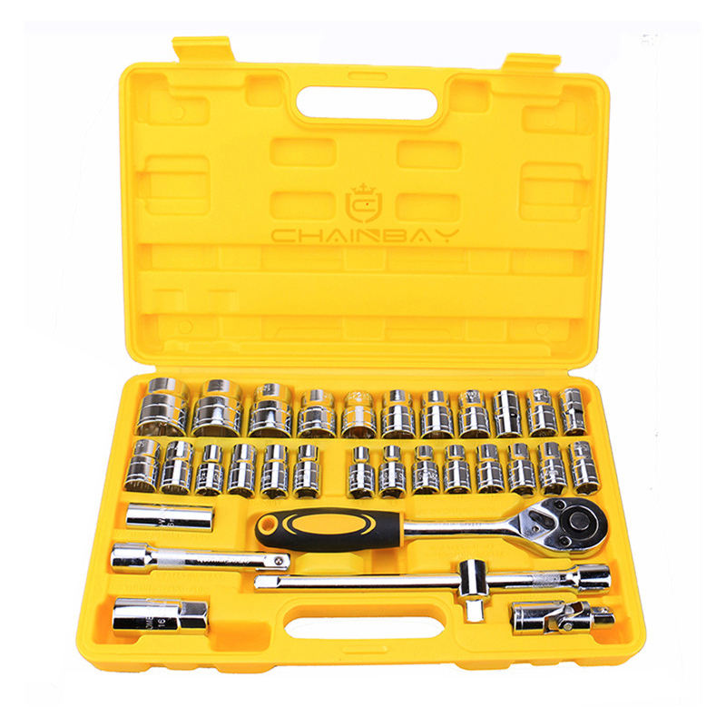 Auto kit household combination tools ratchet wrenches set ratchet handle car maintenance tool