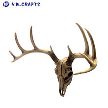 Deer Head Wall Mount Resin Deer Skull Antler Rack Bust Hunting Cabin or Lodge Decor