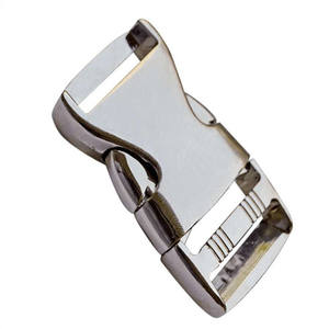 High quality metal strap bag clip buckle good quality buckle for bags metal side release buckle