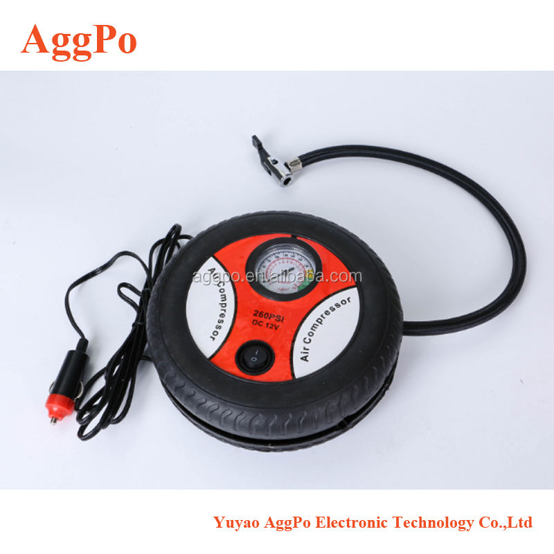 Portable Air Compressor Pump Auto Tire Inflator 12V 260 PSI Tire PumpためCar、Truck、Bicycle、RVとOther Heavy Duty Pump
