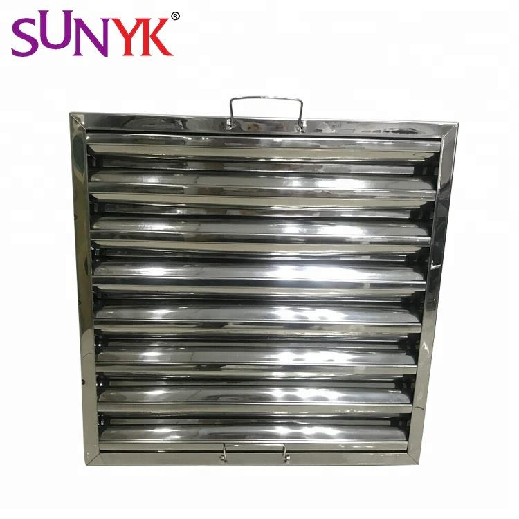 430# stainless steel kitchen hood Baffle grease filter manufacturing oil Filter
