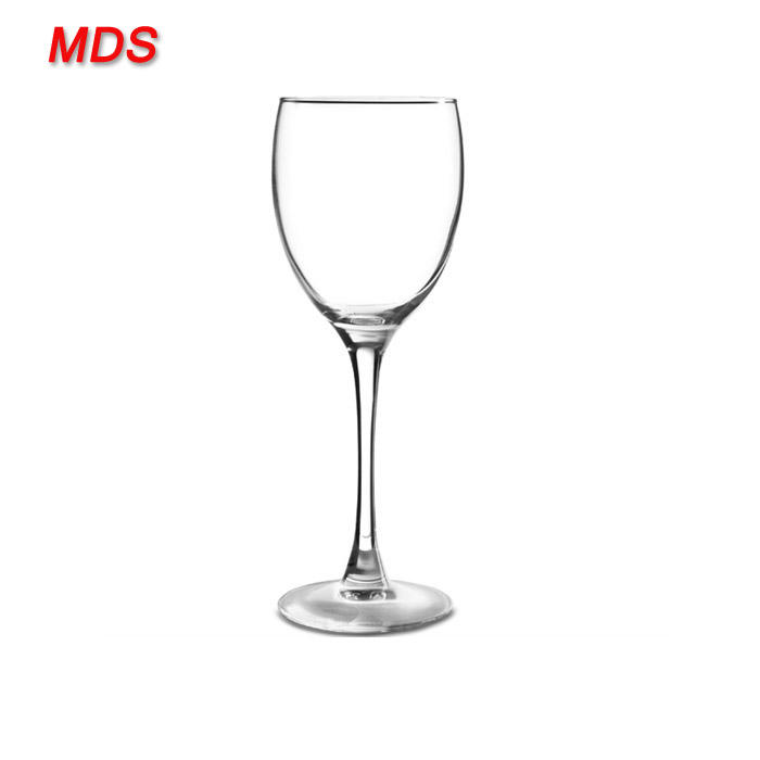 Handmade clear custom french folding wine glass