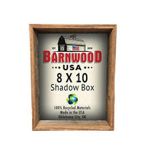 8 by 10 Shadow Box Weathered Gray 3 Inch Deep Reclaimed Wood Collectible Picture