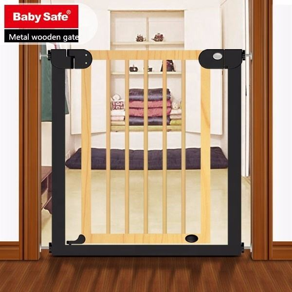 ODM OEM Babysafe original metal wooden retractable baby safety gate